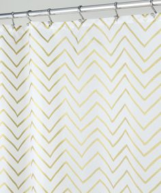 silver and gold shower curtain. Another great find on  zulily Gold Sketched Chevron Shower Curtain by InterDesign zulilyfinds Threshold Ikat just bought this for the new