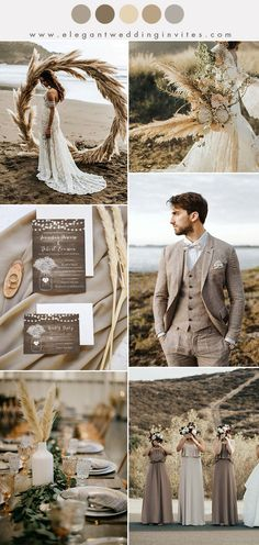 wild rustic pampas grass warm taupe fall and winter wedding ideas wedding dresses bridesmaid fall 10 Chic Earth Tone Fall and Winter Wedding Color Combos Taupe Wedding, Fall Wedding, Dream Wedding, Trendy Wedding, Wedding Rustic, Diy Wedding, Wedding Country, Wedding Ideas For Fall, Warm Wedding Dress