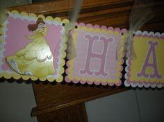 beauty and the beast party...birthday banner