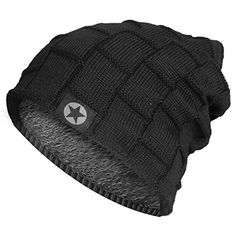 New Bodvera Winter Knit Wool Warm Hat Thick Soft Stretch Slouchy Beanie  Skully Cap. Men 693b1538b1