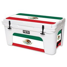 MightySkins Protective Vinyl Skin Decal for YETI Tundra 65 qt Cooler wrap cover sticker skins Mexican Flag ** For more information, visit image link.(This is an Amazon affiliate link and I receive a commission for the sales)