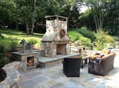 outdoor entertaining areas | Outdoor entertainment area - traditional - patio - new york - by LDAW ...