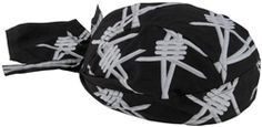 2014 Zan Headgear Motorcycle Street Riding Barb Road Hog Flydanna Headwrap