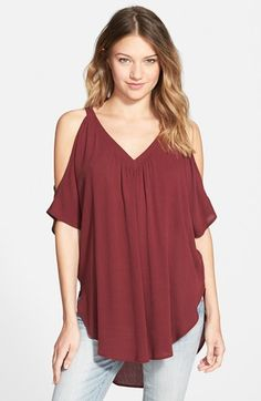 Lush Cold Shoulder Tee (Juniors) (Online Only) | Nordstrom