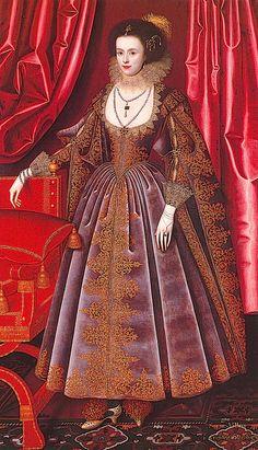 ca. 1616 Susan Feilding, née Villiers by William Larkin (location unknown to gogm)