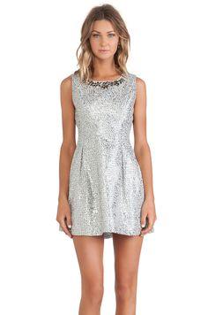 J.O.A. Embellished Dress in Silver