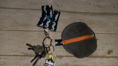 Schlüsselanhängertäschchen und Einkaufswagenchiptäschchen