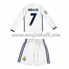 Billige Fotballdrakter Real Madrid 2016-17 Ronaldo 7 Barn Hjemme Draktsett Langerme Bale 11, Ronaldo Shirt, James 10, Bath N Body Works, Isco, Kobe, Adidas Jacket, Gym Shorts Womens, Swimwear