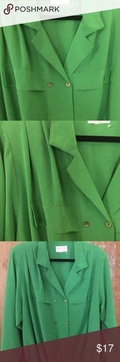 Green Button Blouse Gorgeous Color and Style Blouse gives Elegance to your outfit. Da-Rue Tops Blouses