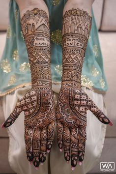 A Pinkish Wedding With Floral Mandap & A Charming Bride Latest Bridal Mehndi Designs, Indian Mehndi Designs, Wedding Mehndi Designs, Unique Mehndi Designs, Beautiful Mehndi Design, Latest Mehndi, Indian Wedding Mehndi, Indian Mehendi, Mehendi Arts