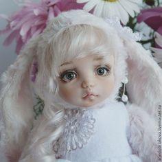 Коллекционные куклы ручной работы. Ярмарка Мастеров - ручная работа. Купить Рози. Тедди-долл зайка.. Handmade. Тедди-долл