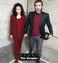 The Sporty Koople: Eric Cantona & Rachida Brakni pose for The Kooples Sport A/W ad campaign All Fashion, Fashion News, Fashion Art, Fashion Show, Eric Cantona, Quebec, Love Connection, The Kooples, Lingerie