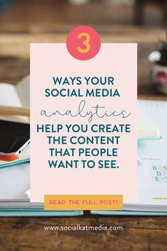 Social media is so much more fun when you make it work for you! Tracking analytics and creating content based on what it is telling you means creating better content that gets more engagement without wasting time. Learn which analytics to track and how to use analytics as an amazing social content planning tool. Don't forget to subscribe to my mailing list (link in the blog) to be the first to get access to a new analytics tracking tool! #SocialMediaTips #Analytics #ContentPlanningTips Social Media Analytics, Social Media Content, Social Media Tips, Make It Work, Wasting Time, Online Marketing, More Fun, Work On Yourself, Don't Forget