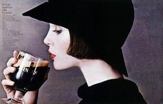 "1970s Guinness advertisement: ""Every girl should have a little black drink"""