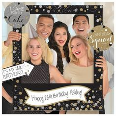 Amscan Frame yourselves for the perfect photo with the Sparkling Celebration Giant Customizable Picture Frame. Each black frame features silver and gold polka dots, space to write a custom message.