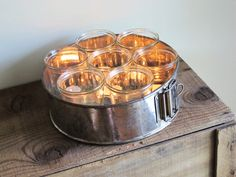 Upcycled Vintage Springform Pan Tea Light Holder / Organizer