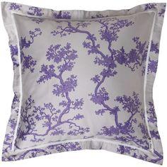 Crane Floral Sateen Cotton 3-piece Duvet Cover Set Euro Pillow Shams, Throw Pillow Covers, Throw Pillows, Comforter, Florence Broadhurst, Lowes Home Improvements, Ultra Violet, Duvet Cover Sets