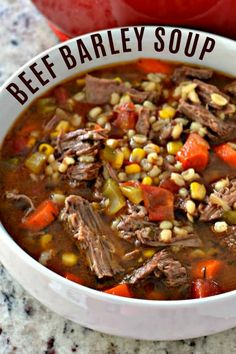 Could You Eat Pizza With Sort Two Diabetic Issues? Barley Soup Beef Soup Comfort Food Beef Barley Soup Beef Barley Soup Recipe Vegetable Beef Barley Soup Beef And Barley Soup Recipe Soup Using Chuck Roast Small Town Woman Soup Healthy Soup Recipes, Vegetable Recipes, Beef Recipes, Barley Recipes, Recipies, Aloo Recipes, Cake Recipes, Vegetable Beef Barley Soup, Homemade Vegetable Beef Soup