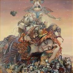 ArtGalery ° PERSONALART.PL tytuł/title: Kraina sennej wyobraźni/The land of dreamy imagination autor: Tomasz Sętowski http://personalart.pl/Tomasz-Setowski