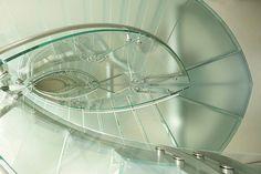 beautiful glass staircase