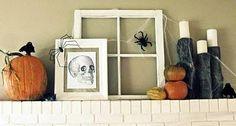 Halloween decorations : IDEAS & INSPIRATIONS Spooky Halloween Mantel