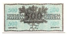 500 markkaa 1955, A 2048513, War-Eng, kl 7 - Huuto.net Teenage Years, Back In Time, Old Toys, Old And New, Finland, Vintage World Maps, Nostalgia, Old Things, Childhood