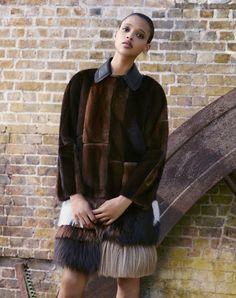 Aya Jones in Fendi photographed by Ben Toms for Bergdorf Goodman Fall 2015.