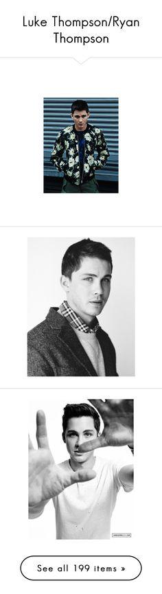 """Luke Thompson/Ryan Thompson"" by mysticfalls1997 ❤ liked on Polyvore featuring people, logan, pics, logan lerman, boys, raviv ullman, ricky ullman, mens, men's accessories and men's hats"
