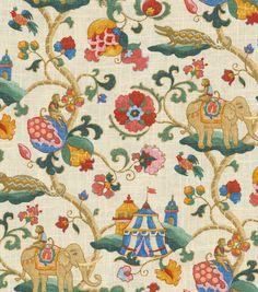 Home Decor Print Fabric-Pkaufmann Uzbek JewelHome Decor Print Fabric-Pkaufmann Uzbek Jewel,