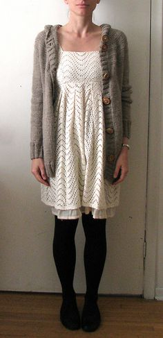 quince patterns are always eminently wearable. love this one. quince sweater with full buttons
