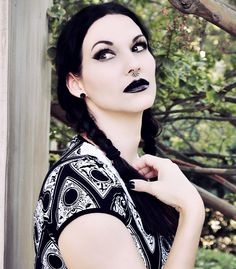 Goth girl, Jacqueline Marie Mourning.