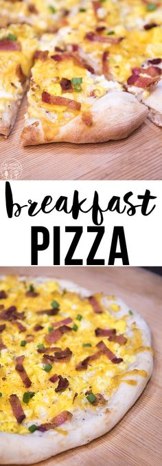 Breakfast pizza combines so many great breakfast flavors into one, it's like biscuits and gravy, scrambled eggs and bacon all in one delicious pizza!