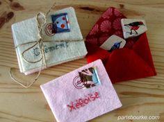 Gorgeous felt envelopes for a mail game