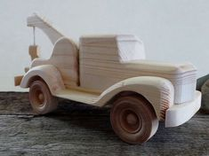 Wooden Toy Tow Truck-HandMade-Push Pull Toy- Eco Friendly