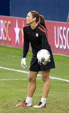 Hope Solo. I might have a BIT of a crush on her.