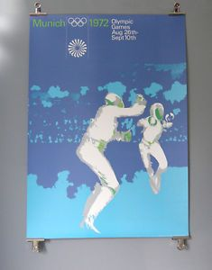 BUY ON EBAY - ORIGINAL-1972-Munich-Olympics-FENCING-A0-Poster-Otl-Aicher-Munchen-72