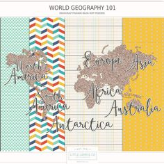 Free Mini Kit from Little Lamm & Co.  {DigiScrap Parade August 2015: World Geography 101}