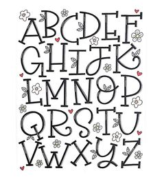 Happy almost Friday! Here's my serif alphabet for and Hand Lettering Alphabet, Doodle Lettering, Creative Lettering, Lettering Styles, Calligraphy Letters, Brush Lettering, Lettering Tutorial, Handlettering Abc, Doodle Art Letters
