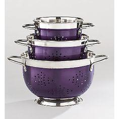 40 colander set from ginnys ji60683 purple kitchen decorpurple - Purple Kitchen Decor