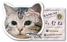 ペット名刺 型抜き名刺 猫デザイン 横型001 オーダーメイド 猫グッズ (1個30枚入)【楽天市場】