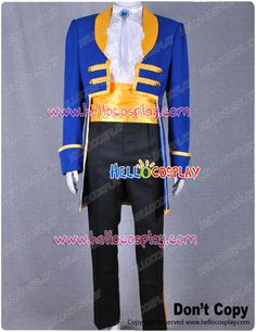 Disney Beauty and The Beast Prince Adam Cosplay Costume Dress