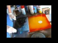 Spray Paint Art Tutorial: Sunsets and Palm Trees