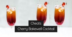 Sweet cherry cordial, almond amaretto, a few more ingredients, and you've just about got a homemade, cheap Cherry Bakewell cocktail!