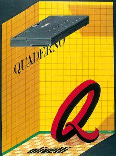 Manifesto di Milton Glaser per il personal computer portatile Quaderno, 1993