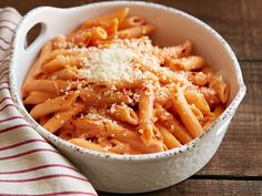 Penne alla Vodka recipe from Ree Drummond via Food Network -- Tater Salad (hubby) approved -- I only used 3/4 cup vodka.