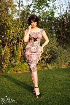 Erika Dress in Vintage Rose with Bolero