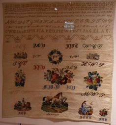 A Century Sampler Embroidery Sampler, Point, 19th Century, Needlework, Miniature, Rugs, Antiques, Ebay, Decor