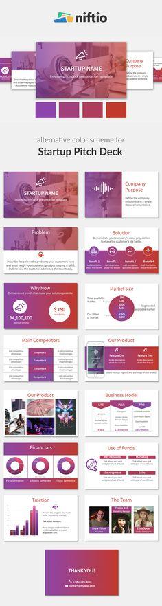 Business Presentation Template | Alternative Color Scheme | Bold Colors | Startup Pitch Deck Template