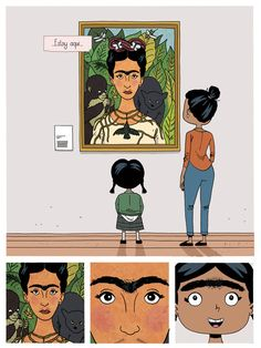 This Frida Kahlo-Inspired Cartoon Will Get You Through the Day Short Comics, Preschool Lessons, Cute Comics, New Theme, Art Lessons, Art For Kids, Folk Art, Pop Culture, Zen