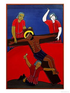 Jesus is Nailed to the Cross, No. 11 in 14 Stations of the Cross Series, 2002 by Laura James